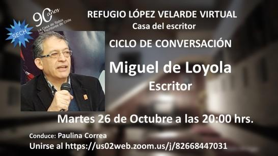 CICLO DE CONVERSACIÓN MIGUEL DE LOYOLA